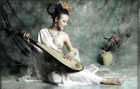 美女弹琵琶图片 犹抱琵琶半遮面美女 古代美女琵琶 琵琶美女图